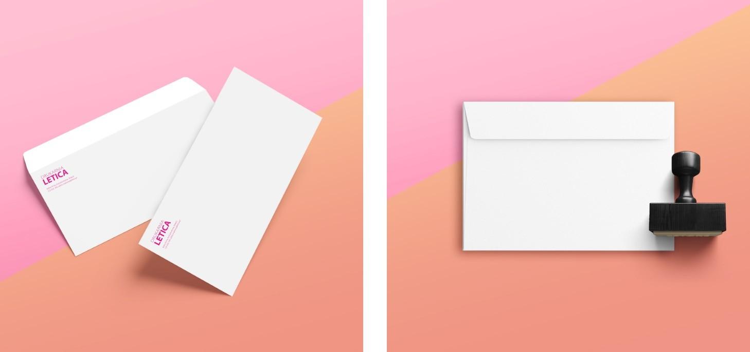 letica druk kopert kopertai firmowy ofertowy firmowe ozdobne
